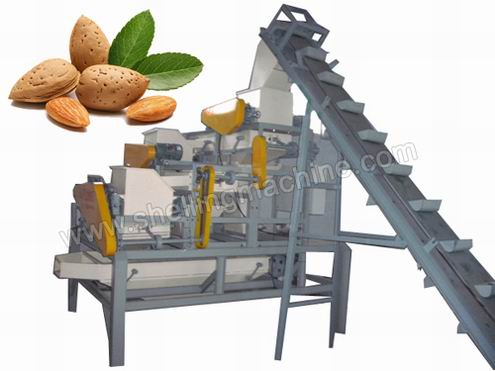 Almond Cracking and Shelling Machine