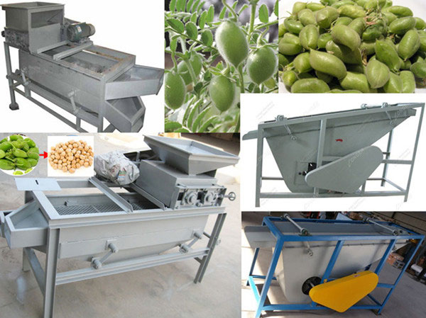 chickpea shelling machine
