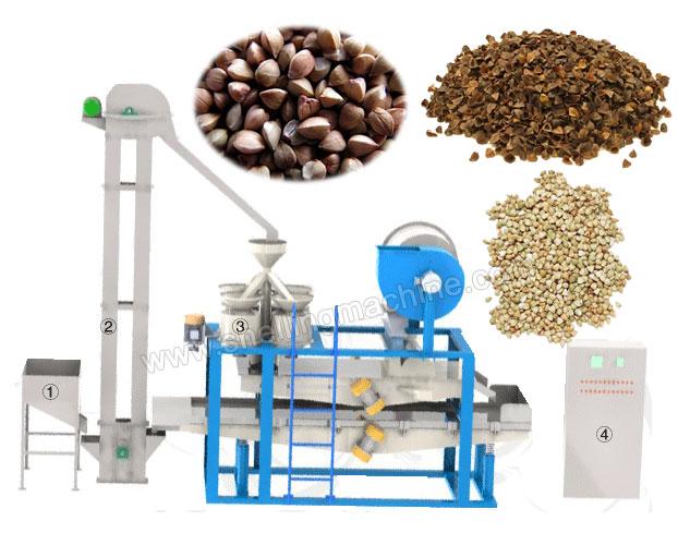 buckwheat hulling machine
