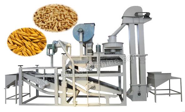 oat seeds hulling line