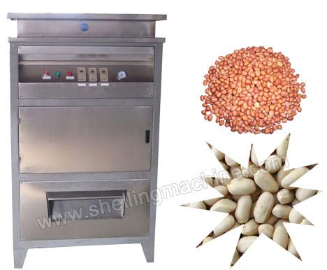 dry type peanut peeling machine