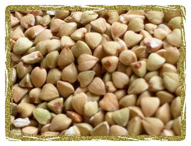 hulled buckwheat grains