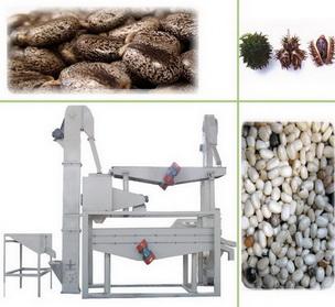 castor seeds dehulling machine