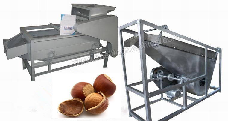small hazelnut shelling machine