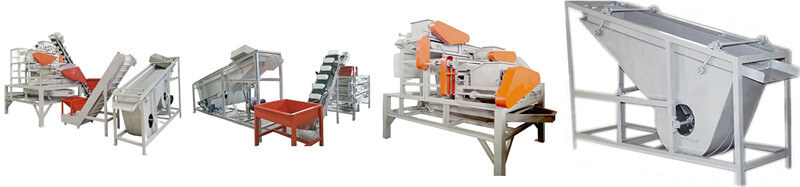 automatic hazelnut shelling and separating line