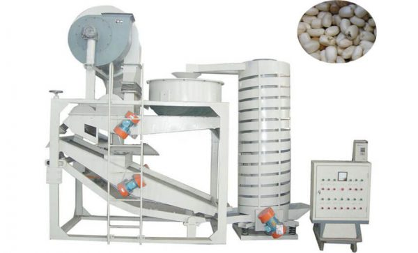 castor seed hulling machine