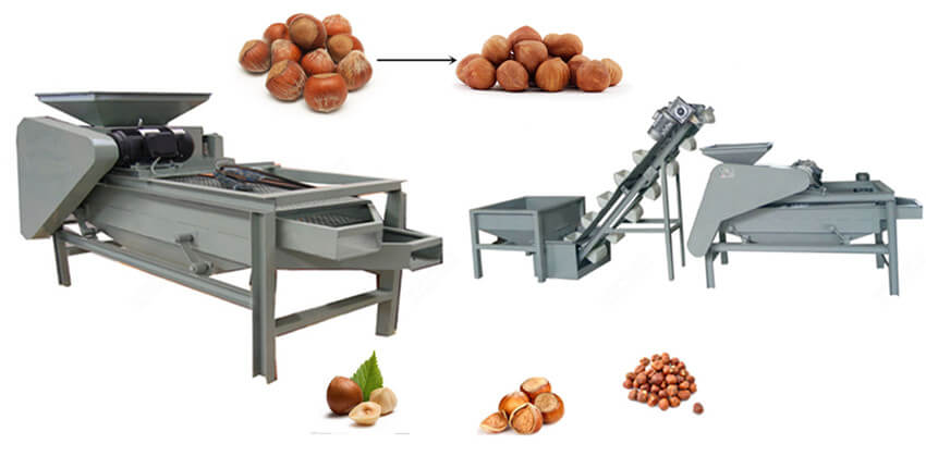 hazelnuts cracking equipment
