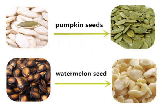 hulled pumpkin seeds and watermelon seeds