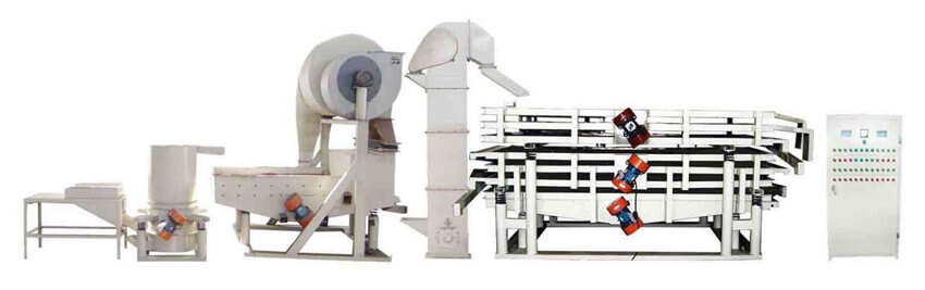 melon seeds hulling machine line