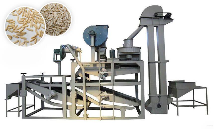 oats hulling machine equipment unit