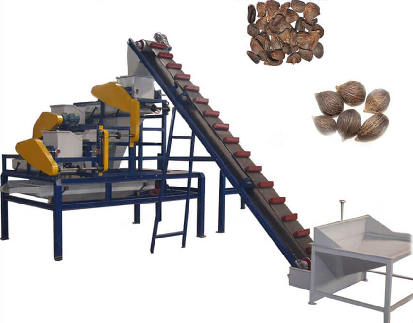 palm nut shelling separating machine