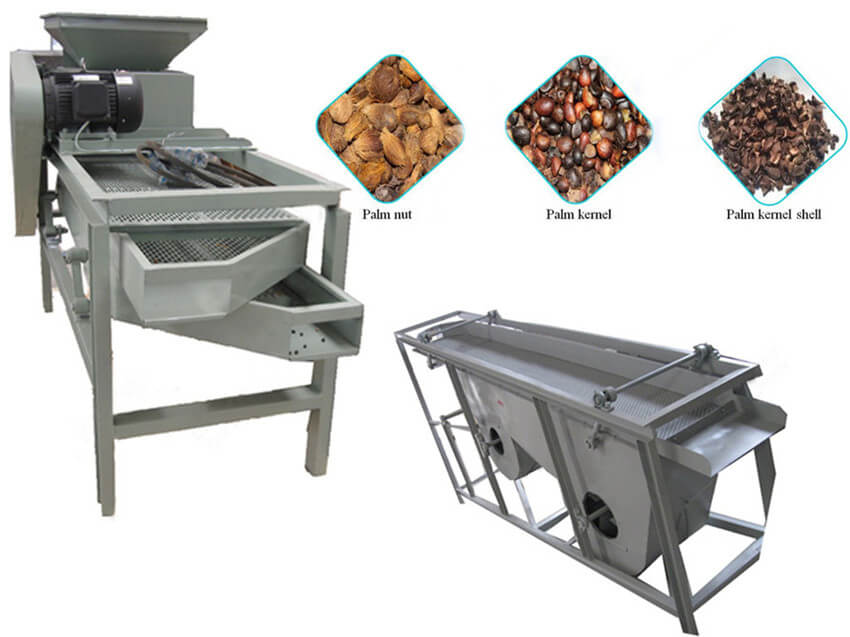 palm kernels shelling and separating machine