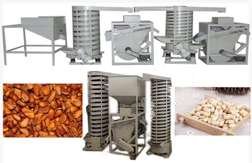 pine nuts shells separators