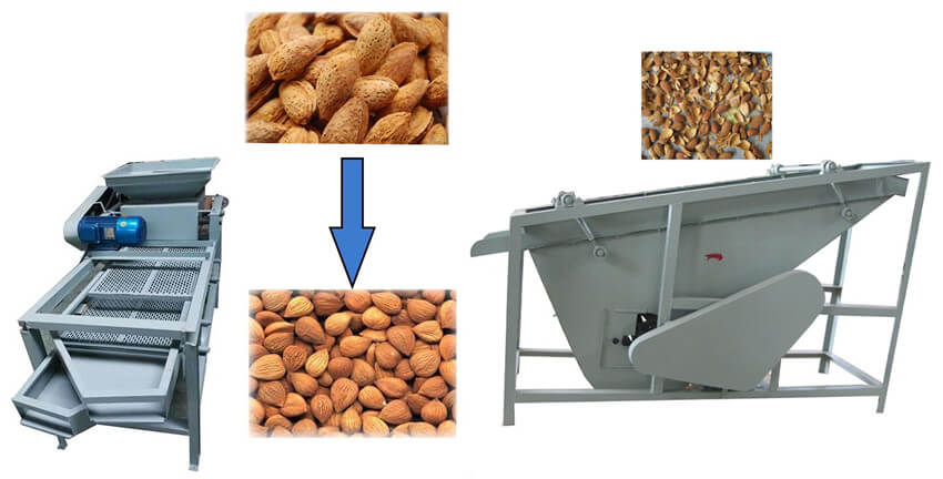 small Almond cracking separating machine