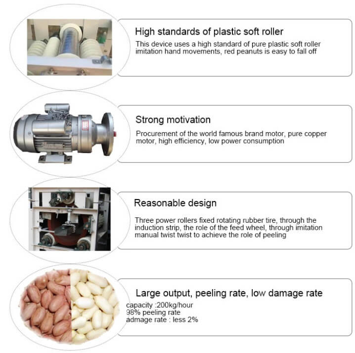 why choose wet type peanut peeler machine