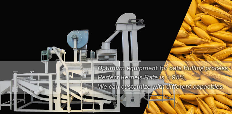 oats seeds hulling machine