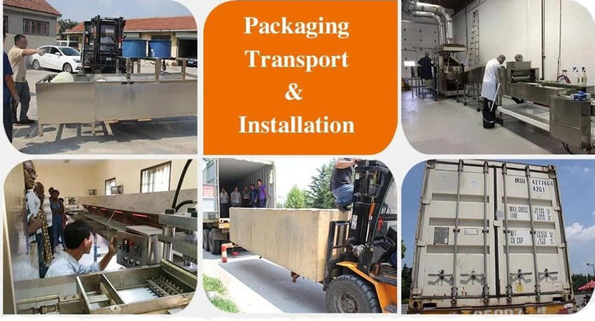 packing & shipping of shelling machinery
